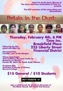 UPDATE: Thanks to all who attended our screening of Petals in the Dust and panel discussion!